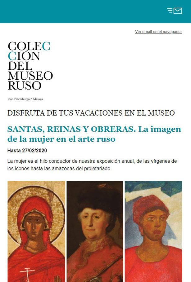 Newsletter Museo Ruso